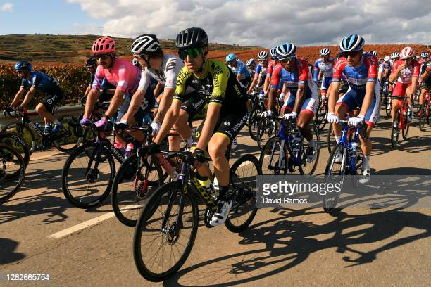Reinardt Janse Van Rensburg of South Africa and NTT Pro Cycling Team / Mitchell Docker of Australia and Team EF Pro Cycling / Jasha Sutterlin of...
