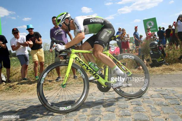 Reinardt Janse Van Rensburg of South Africa and Team Dimension Data / Cysoing À Bourghelles Cobbles Sector 4 / Pave / Fans / Public / during the...