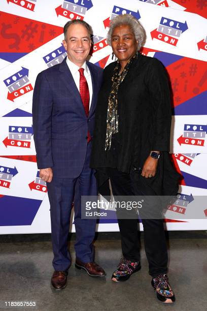 Reince Priebus and Donna Brazile attend the 2019 Politicon at Music City Center on October 26 2019 in Nashville Tennessee