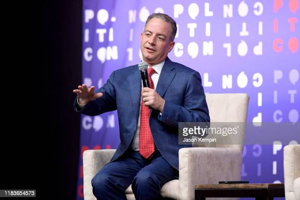 Reince Priebus speaks onstage during the 2019 Politicon at Music City Center on October 26 2019 in Nashville Tennessee