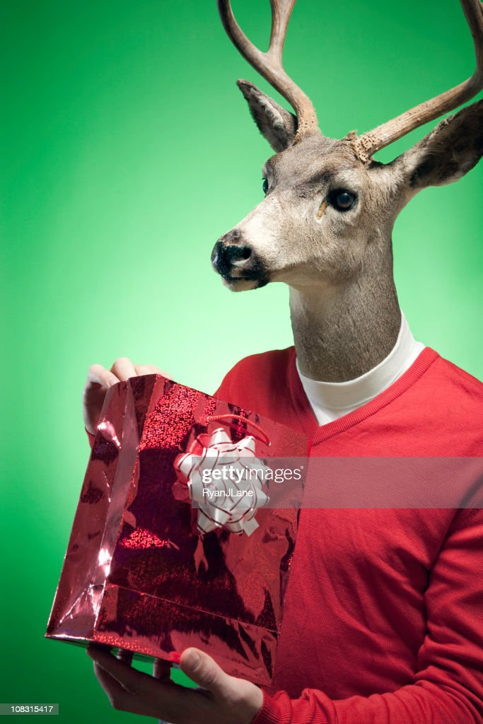 Rudolph The Red-Pullover mit Rentiermotiv : Stock-Foto