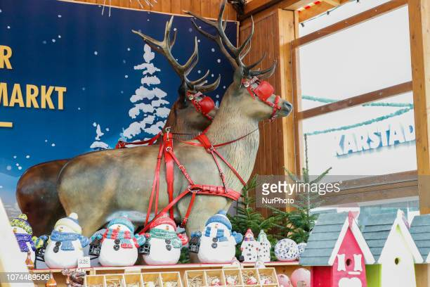 Reindeers and Snowmen Christmas Market in the Northern Bavarian town of Bayreuth