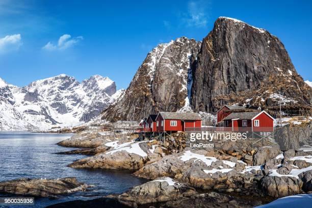 reine - lofoten islands bay in northern norway - norwegian culture stock pictures, royalty-free photos & images