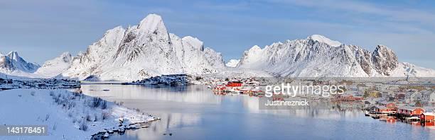 Reine, Norway Winter Panorama