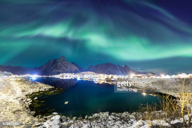 Reine village in Lofoten islands of Norway in winter time