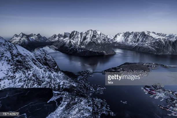 Reinebringen mountains, Lofoten, Nordland, Norway