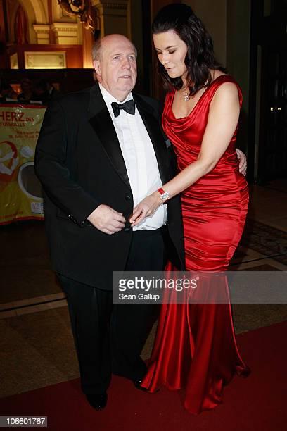 Reiner Calmund and his wife Sylvia Haeusler attend the Sportpresseball 2010 at Alte Oper on November 6 2010 in Frankfurt am Main Germany