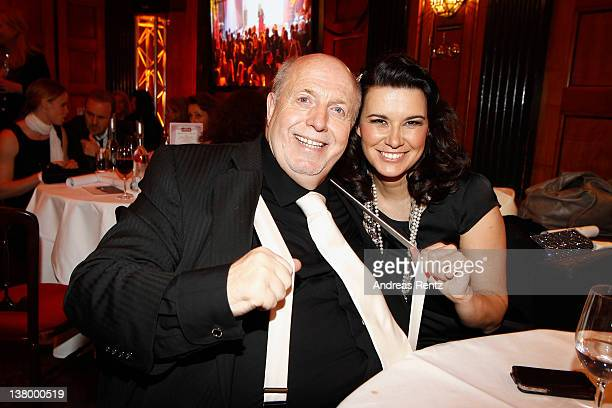 Reiner Calmund and Sylvia Calmund attend the 'Lambertz Monday Night' at Alter Wartesaal on January 30, 2012 in Cologne, Germany.