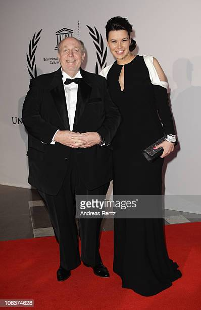 Reiner Calmund and Sylvia Haeusler arrive for the UNESCO CharityGala 2010 at Maritim Hotel on October 30 2010 in Duesseldorf Germany