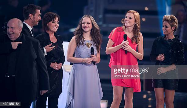 Reiner Calmund Florian Silbereisen Ute Freudenberg Oonagh Anni Perka and Michelle perform during the tv show '150 Jahre Schlager Das Grosse Fest Zum...