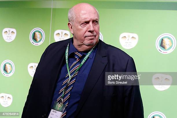Reiner Calmund looks on at the green carpet prior to the DFB Cup Final between Borussia Dortmund and VfL Wolfsburg at Olympiastadion on May 30 2015...