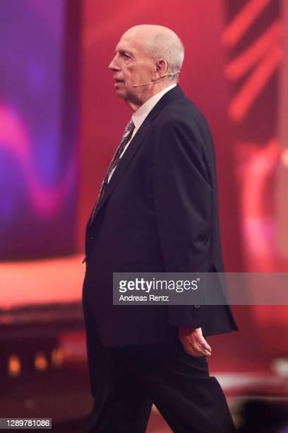 """Reiner Calmund on stage during the tv show """"2020! Menschen, Bilder, Emotionen! - Der grosse RTL Jahresrueckblick"""" on December 06, 2020 in Huerth,..."""