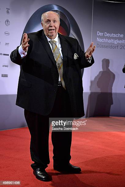 Reiner Calmund reacts during the German Sustainability Award 2015 at Maritim Hotel on November 27 2015 in Duesseldorf Germany