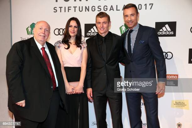 Reiner Calmund Toni Kroos and his wife Jessica Farber and Kai Pflaume during the Toni Kroos charity gala benefit to the Toni Kroos Foundation at 'The...