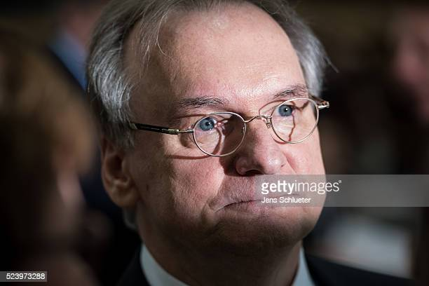 Reiner Haseloff, incumbent governor of Saxony-Anhalt and German Christian Democrat , is seen prior to a vote by parliament members on a new governor...