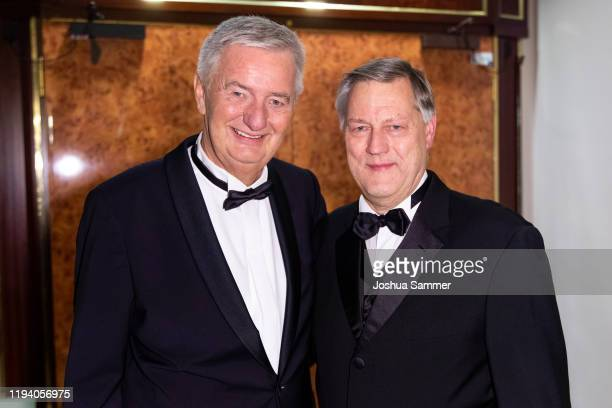Reiner Meutsch and Ruediger Mittendorff are seen at the Fly Help Gala at Maritim Hotel on December 14 2019 in Cologne Germany