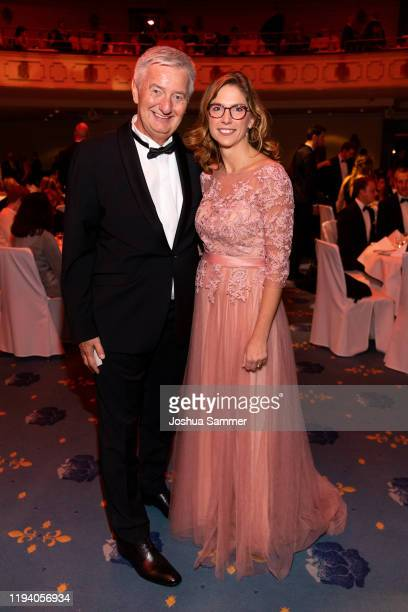 Reiner Meutsch and Sabine BlaetzingLichtentaeler are seen at the Fly Help Gala at Maritim Hotel on December 14 2019 in Cologne Germany