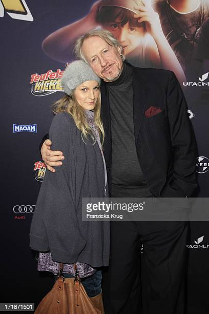 Reiner Schöne and girlfriend Anja Drendel at the Premiere Of The film 'Devils Kickers' In Uci Colosseum in Berlin