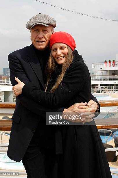 Reiner Schoene and Anja Drendel attend the Ship christening of `Mein Schiff 2` on April 14 2011 in Hamburg Germany