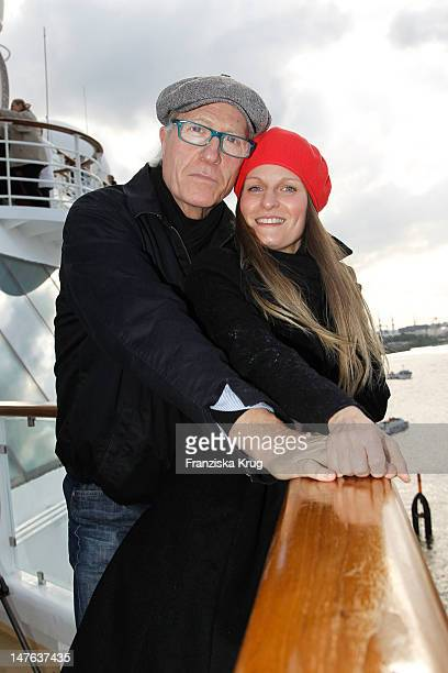 Reiner Schoene and Anja Drendel attends the Ship christening of `Mein Schiff 2` on April 14 2011 in Hamburg Germany