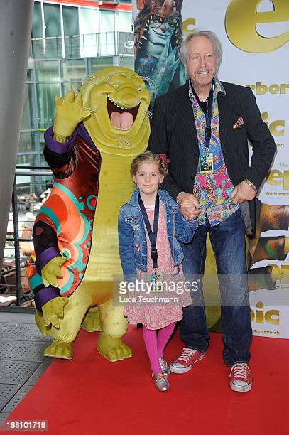 Reiner Schoene and daughter Sophie Charlotte attend the 'Epic' Premiere at CineStar on May 5 2013 in Berlin Germany