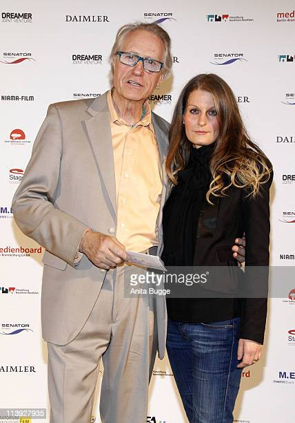 Reiner Schoene and his partner Anja Drendel attend the 'Geliebtes Leben' Germany premiere at the Theater am Potsdamer Platz on May 10 2011 in Berlin...