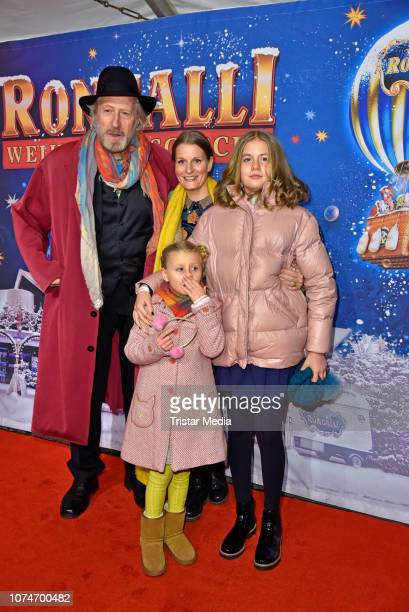 Reiner Schoene his wife Anja Schoene and their children CharlotteSophie Schoene and Olivia Schoene attend the 15th Roncalli christmas circus premiere...