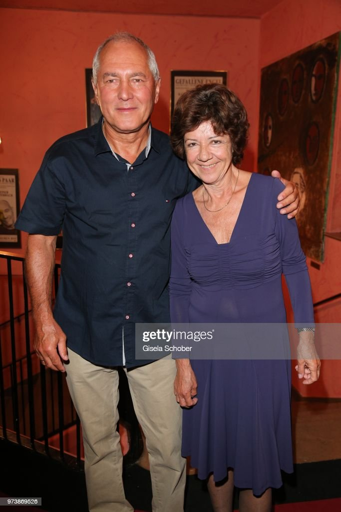 Reinhard Ahrens and his wife Svetla Ahrens, parents of Mariella Ahrens during the 'Mirandolina' premiere at Komoedie Bayerischer Hof on June 13, 2018 in Munich, Germany.