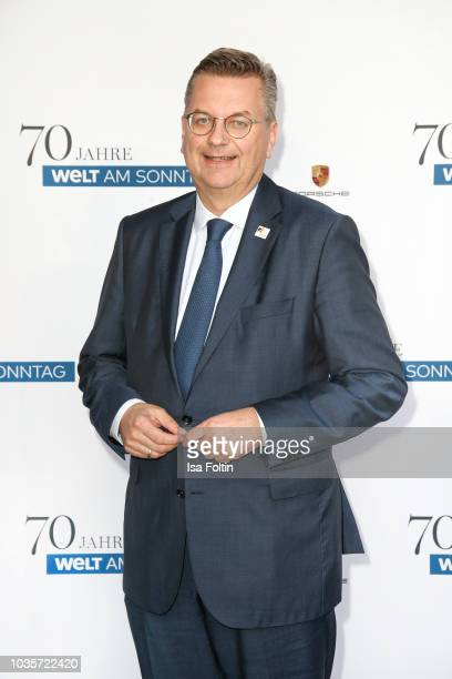 Reinhard Grindel, DFB president during the 70th anniversary celebration of the German Sunday newspaper WELT AM SONNTAG at The Fontenay Hotel on...