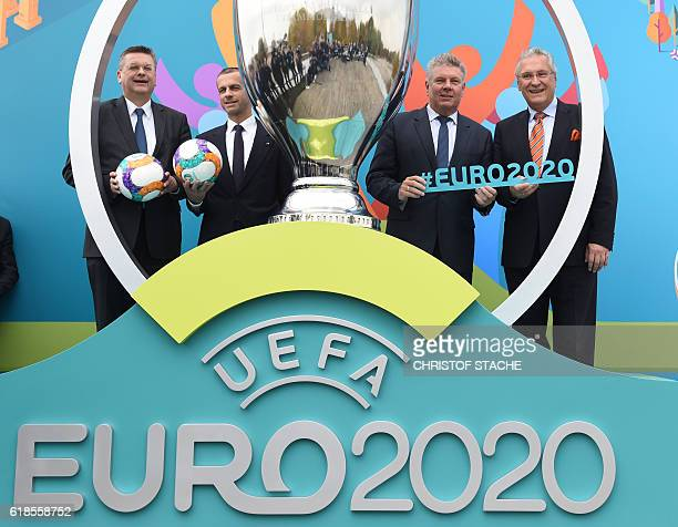 Reinhard Grindel President of the German football association DFB Aleksander Ceferin President of the European football association UEFA Dieter...