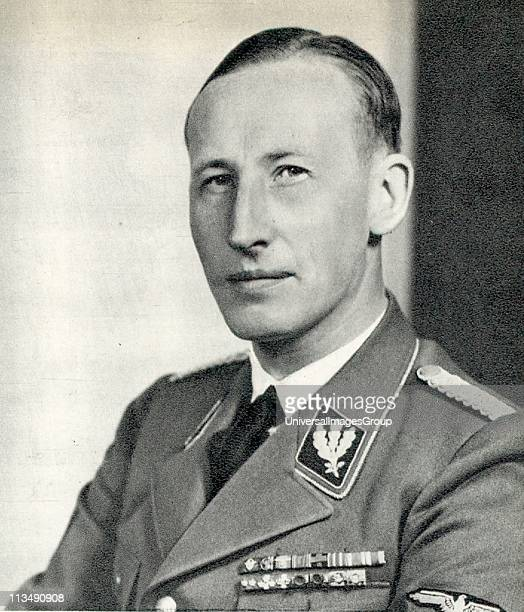 Reinhard Heydrich SS-Obergruppenfuhrer, chief of the Reich Security Main Office and Reichsprotektor of Bohemia and Moravia. Heydrich chaired the 1942...