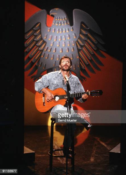 Reinhard Mey performs live in concert in Munich Germany on May 01 1988