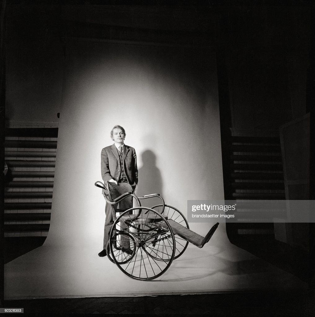 Reinhard Priessnitz Wit A Thonet Wheel Chair Austria Photograph 1968 News