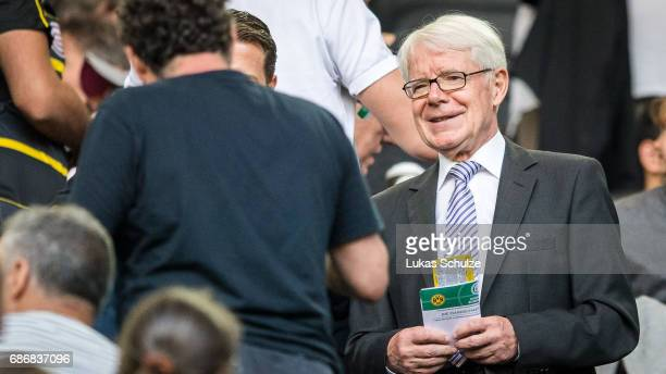 Reinhard Rauball attends the U19 German Championship Final between Borussia Dortmund and FC Bayern Muenchen on May 22 2017 in Dortmund Germany