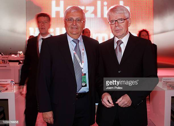 Reinhard Rauball , president of the German Football League and Theo Zwanziger , president of the German Football Association are pictured prior to...