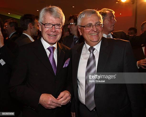 Reinhard Rauball , president of the German Football League and Theo Zwanziger , president of the German Football Association are seen during the...