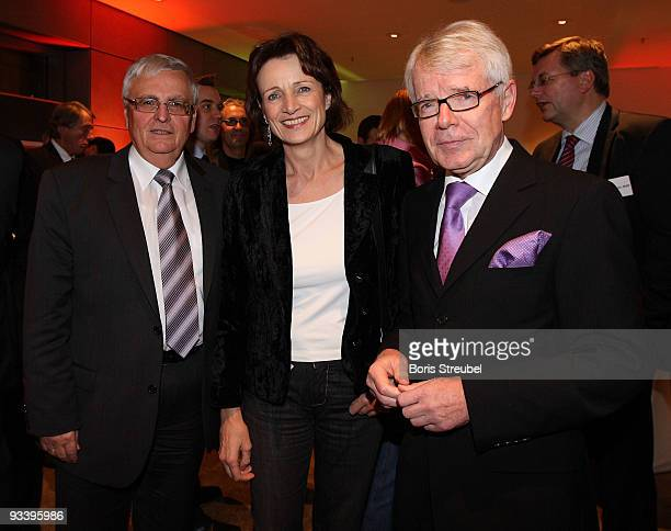Reinhard Rauball , president of the German Football League , Dagmar Freitag, designated chairlady of the sports commission Bundestag and Theo...