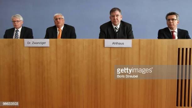 Reinhard Rauball, president of the German Football League , Theo Zwanziger, president of the German football association , Christoph Ahlhaus,...