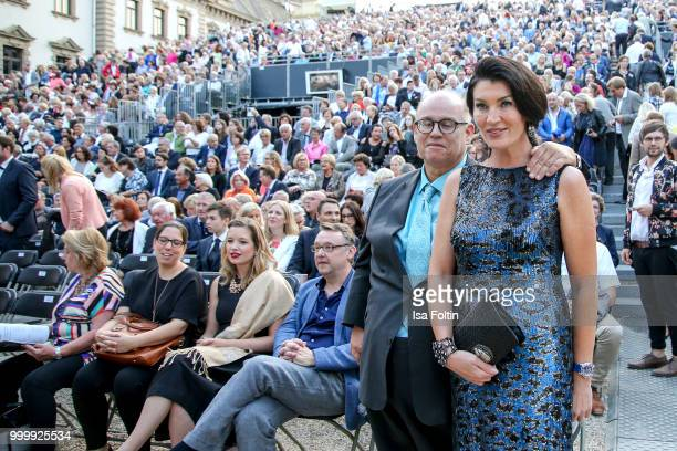 Reinhard Soell and his partner Swetlana Panfilow attend the Thurn Taxis Castle Festival 2018 'Evita' Musical on July 15 2018 in Regensburg Germany