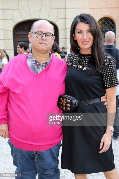 Reinhard Soell and his partner Swetlana Panfilow during the Anastacia concert at Thurn Taxis Castle Festival 2018 on July 16 2018 in Regensburg...