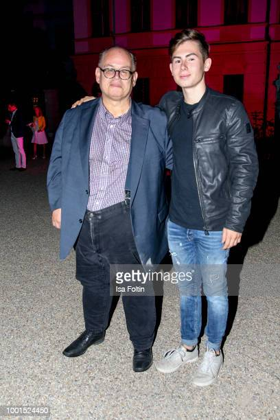 Reinhard Soell and his son Ludwig Soell during the Brian Ferry concert at the Thurn Taxis Castle Festival 2018 on July 18 2018 in Regensburg Germany