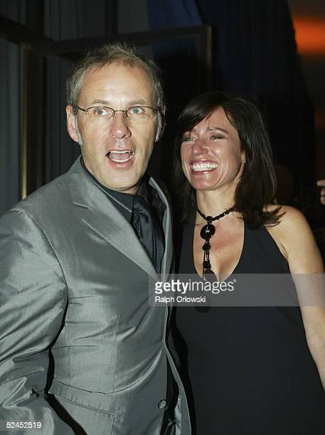 Reinhold Beckmann and his wife Kerstin attend the Radio Regenbogen Award 2005 at Schwarzwaldhalle on March 18 2005 in Karlsruhe Germany
