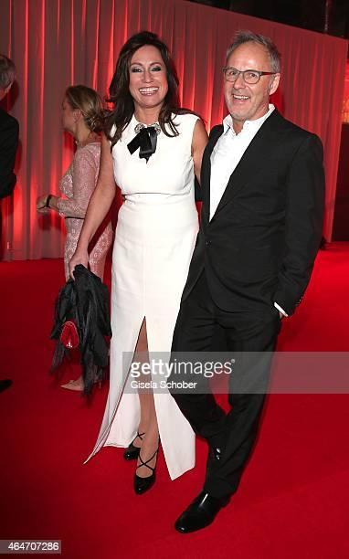 Reinhold Beckmann and his wife Kerstin Beckmann during the Goldene Kamera 2015 reception on February 27 2015 in Hamburg Germany
