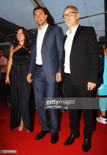 Reinhold Beckmann Kerstin Beckmann and Vladimir Klitschko attend the Day of Legends gala Night of Legends at the Schmitz Tivoli theatre on September...