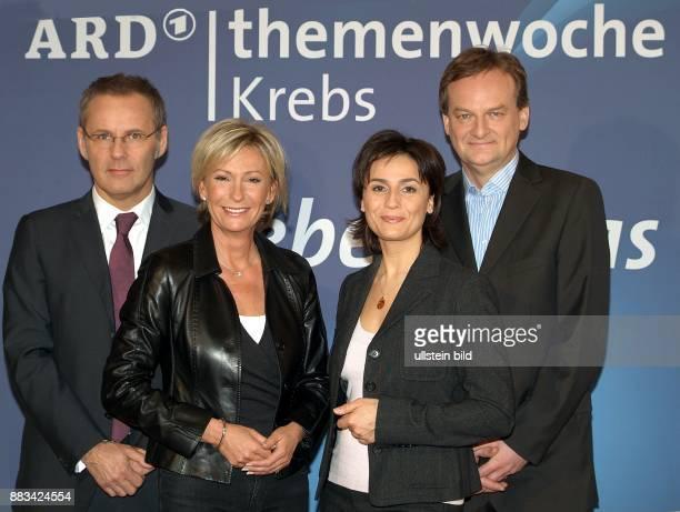 Reinhold Beckmann Sabine Christiansen Sandra Maischberger Frank Plasberg die Moderatoren sind Paten der ARD Themenwoche Krebs mit dem Titel 'Leben...
