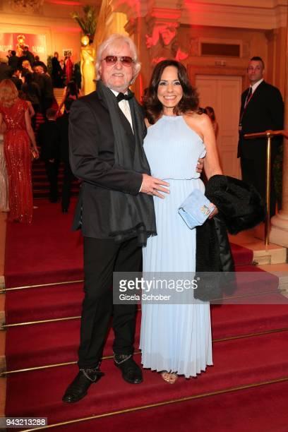 Reinhold Bilgeri and his wife Beatrix Bilgeri during the 29th ROMY award at Hofburg Vienna on April 7, 2018 in Vienna, Austria.