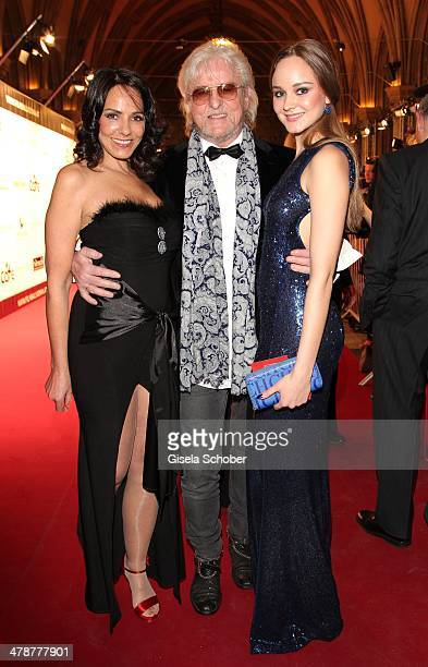 Reinhold Bilgeri with wife Beatrix and daughter Laura attend the 5th Filmball Vienna at City Hall on March 14 2014 in Vienna Austria