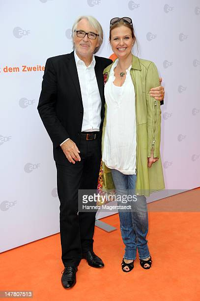 Reinhold Elschot and actress Katharina Boehm attend the ZDF reception during the Munich Film Festival 2012 at the H'ugo's on July 3 2012 in Munich...