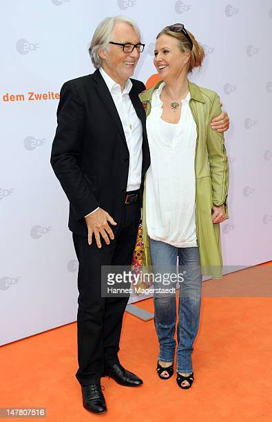 Reinhold Elschot and actress Katharina Boehm attend the ZDF reception during the Munich Film Festival 2012 at the H'ugo's on July 3, 2012 in Munich,...