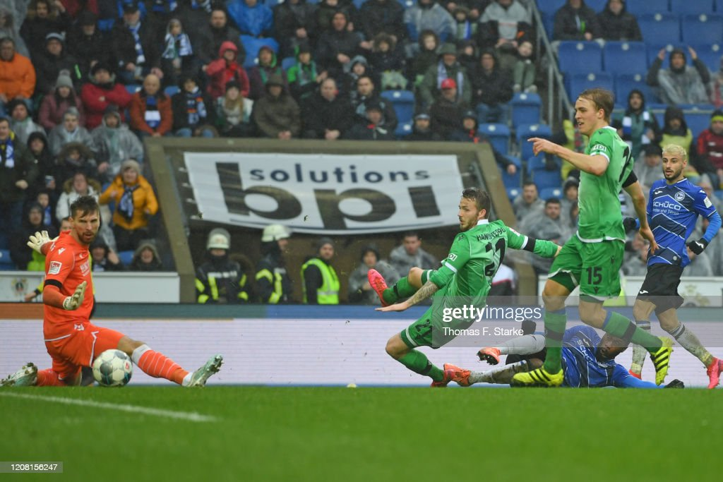 DSC Arminia Bielefeld v Hannover 96 - Second Bundesliga : News Photo